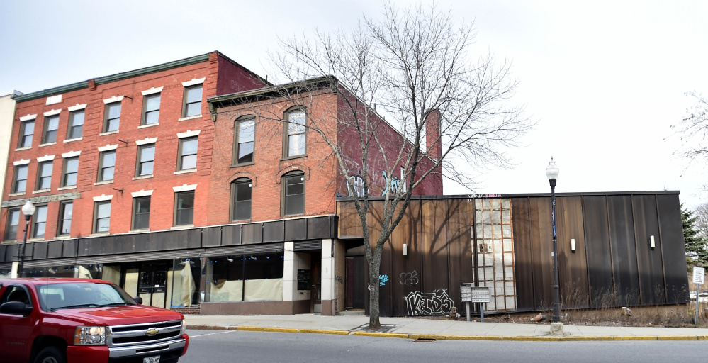 The Levine's building is seen Wednesday on Main Street in downtown Waterville.