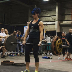 Gina LoMonaco, 38, of Augusta, competes in a strength camp challenge in Tampa, Florida, last November. LoMonaco is one of at least 28 women who will compete in the ninth annual Central Maine Strongman on Saturday at the Augusta Armory.