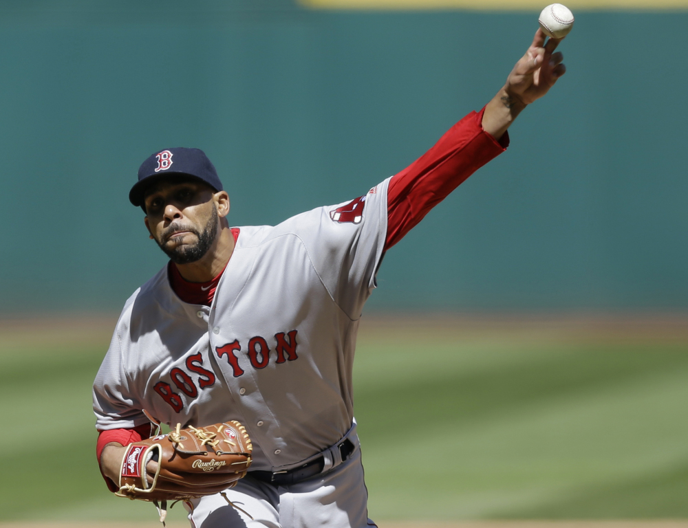 Boston Red Sox starting pitcher David Price will start against the Baltimore Orioles in the home opener Monday.