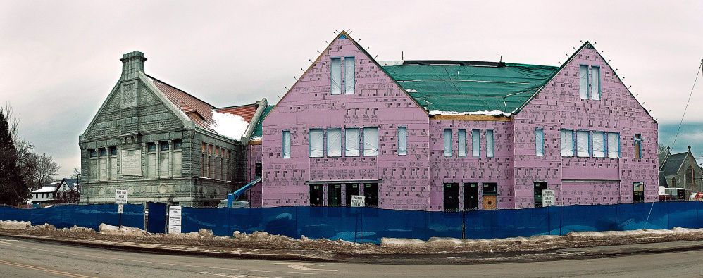 This January photo shows the expansion project at Lithgow Public Library in Augusta.