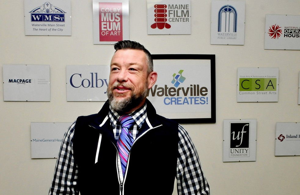 Nathan Towne, the new marketing manager for Waterville Creates!, is a Waterville native who said he's excited to be back in the city.