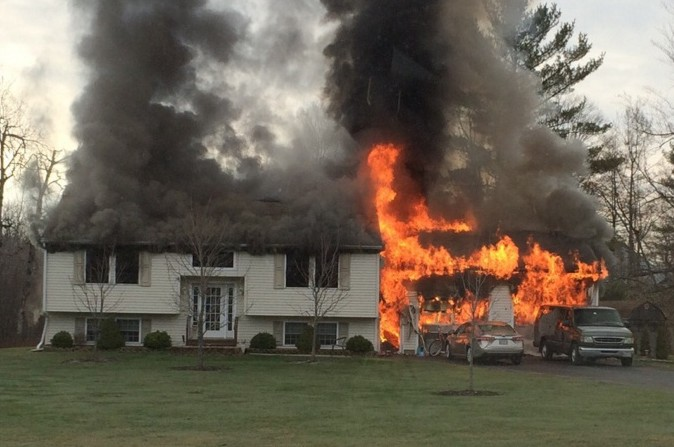 A fire on Friday morning destroyed the home at 3 Bradley Lane in Vassalboro.