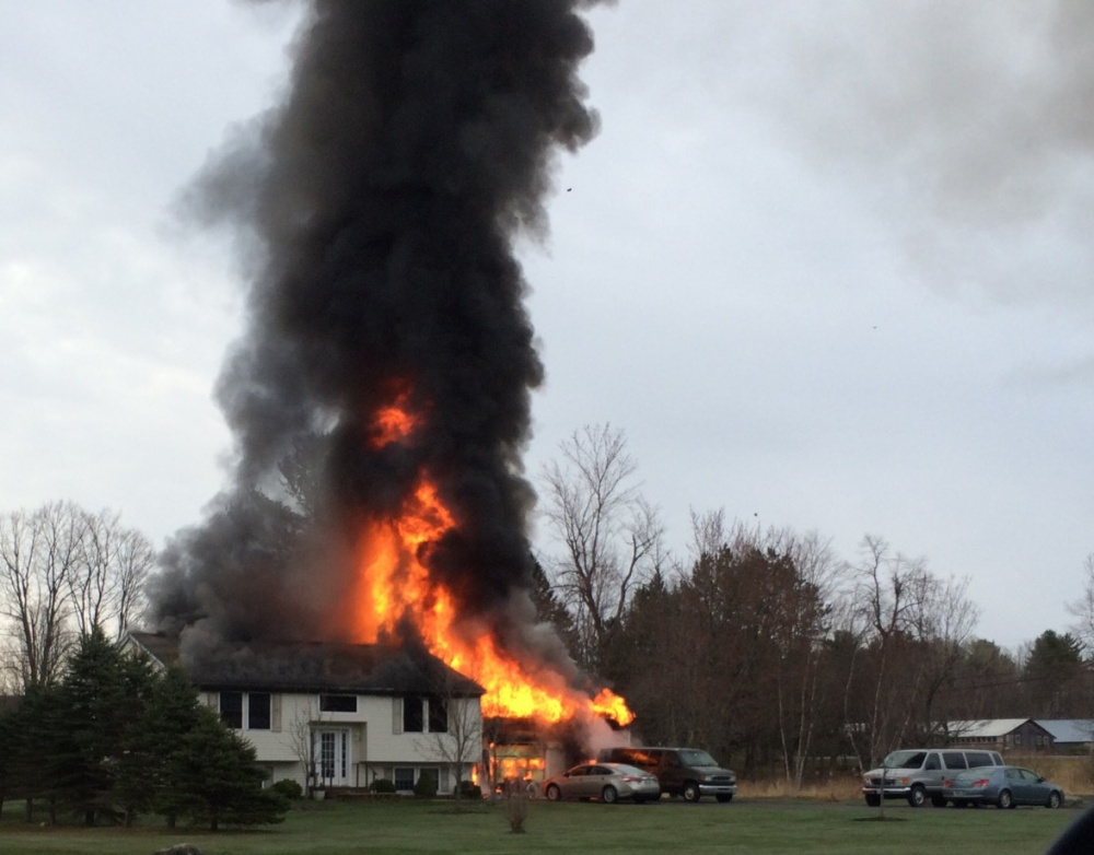 Firefighters from several area departments responded on Friday to a house fire at 3 Bradley Lane in Vassalboro.