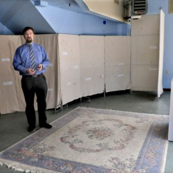 Nate Rudy, Waterville Creates! executive director, stands in the former REM lounge in the Center in Waterville on Monday that will become the Children's Art Studio.