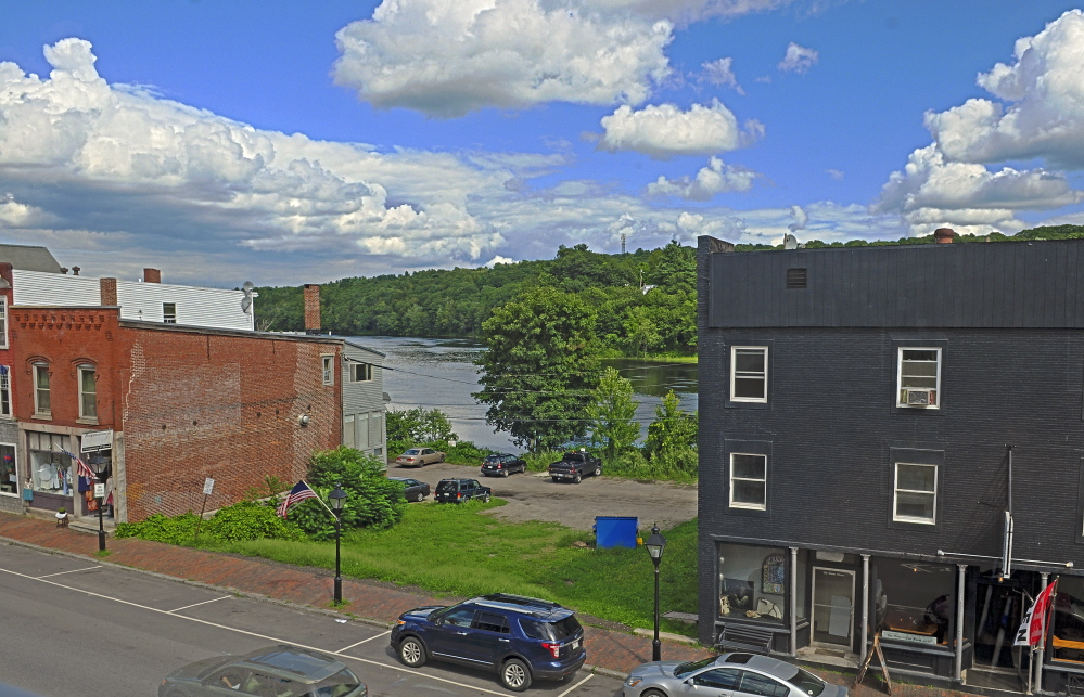 The vacant lot beside the Quarry Tap Room in Hallowell, shown in this 2015 file photo, would become outdoor seating for the restaurant and bar if final approvals are granted by the Planning Board.