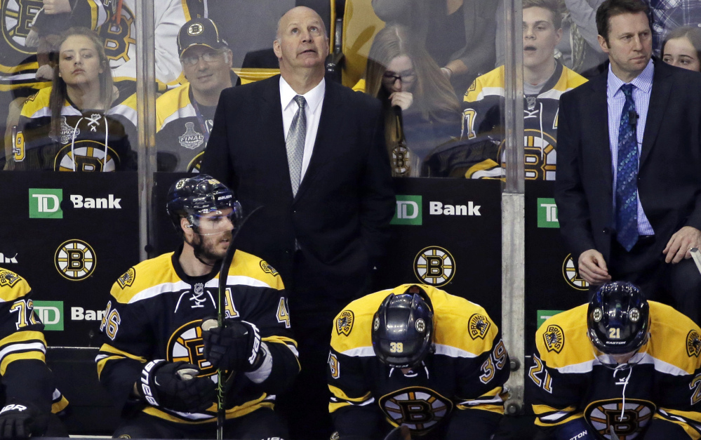 Coach Claude Julien and the Boston Bruins missed the playoffs for the second straight season, and now Julien's future with the team is in question.