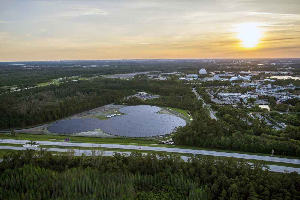 Disney's Mickey Mouse-shaped solar facility in Lake Buena Vista, Fla., is located on 22 acres near the Epcot theme park.