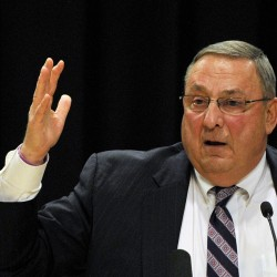 Gov. Paul LePage upped his earlier tally on job loss while speaking at a town hall meeting in Biddeford on Tuesday.