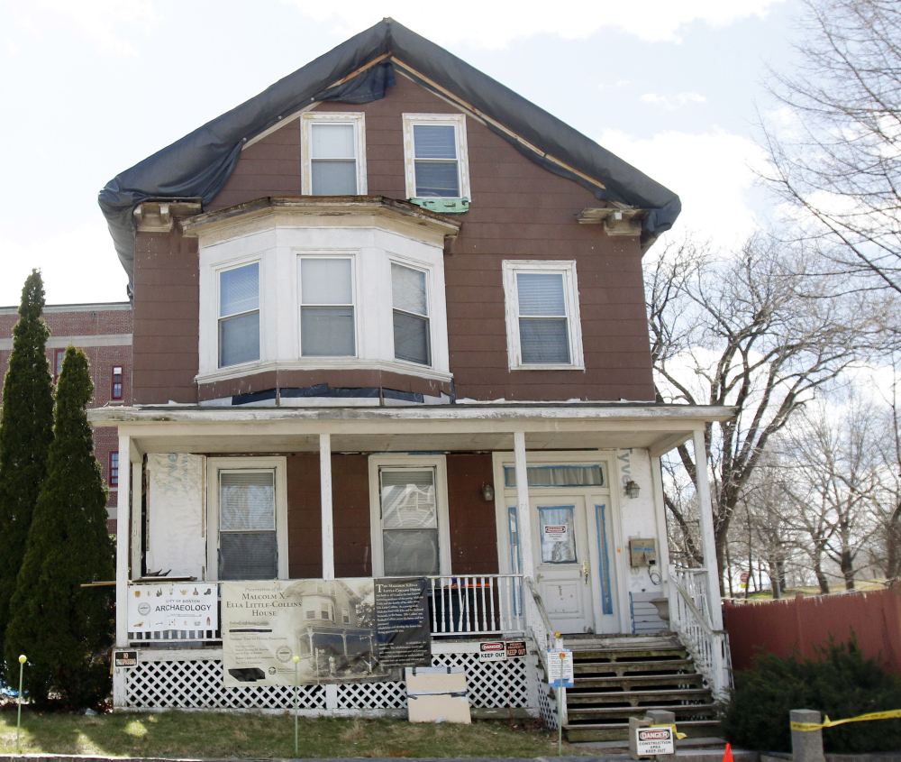 A dig at the house in Boston where slain African-American leader Malcolm X spent part of his childhood led to finding many objects from an older settlement two feet down.