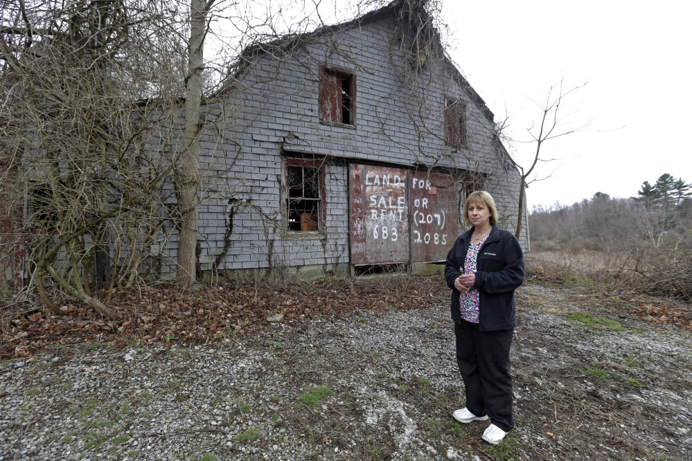 """Desiree Moninski lives across from the site of a proposed Muslim cemetery in Dudley, Mass. """"A lot of people moved here because it's peaceful and quiet. I just don't want a cemetery here, period,"""" she said."""