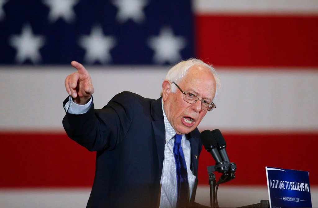 Democratic presidential candidate Sen. Bernie Sanders, I-Vt., speaks during a campaign event, Monday in Milwaukee. The Associated Press