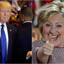 Presidential front-runners Republican Donald Trump and Democrat Hillary Clinton. The Associated Press