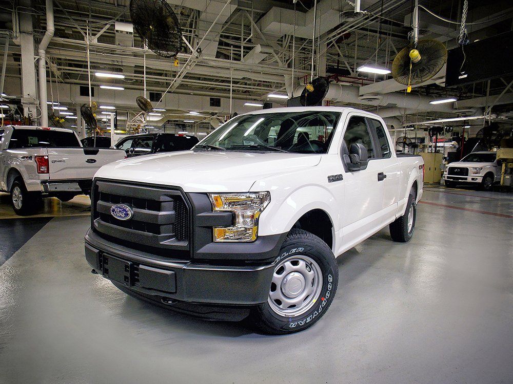 The 2016 Ford F-150 with 5.0-liter Ti-VCT V8 engine rolls off the line at Kansas City Assembly Plant.  The 2016 Ford F-150 is the only full-size pickup truck to score the top rating in new front crash tests performed by the insurance industry. Rival pickups from Chevrolet, GMC, Ram and Toyota didn't fare as well. Ford Motor Company via AP