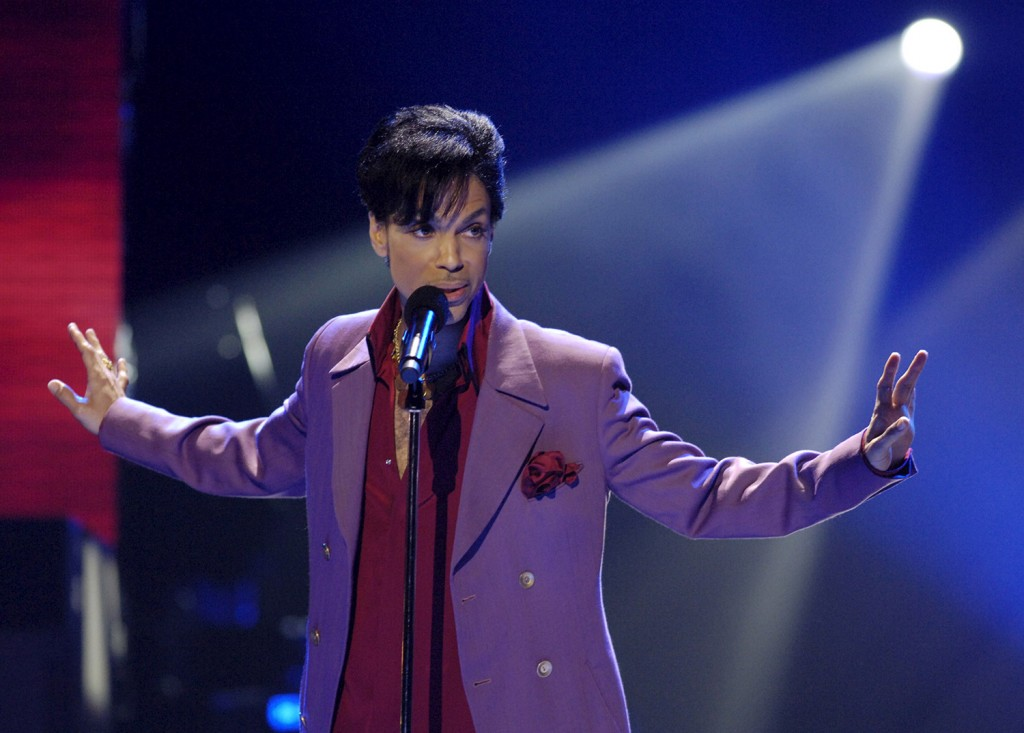"MAY 24, 2006: Prince performs in a surprise appearance on the ""American Idol"" television show finale at the Kodak Theater in Hollywood, California."