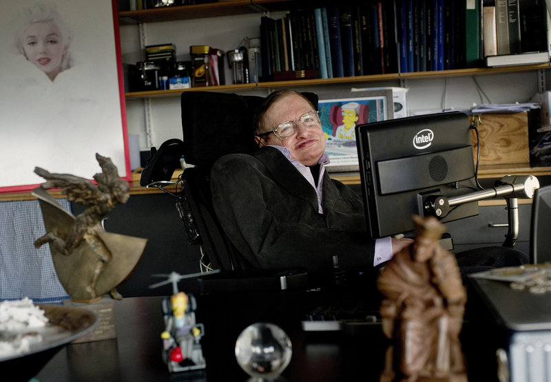 """Stephen Hawking: """"Today we commit to this next great leap into the cosmos because we our human and our nature is to fly."""""""