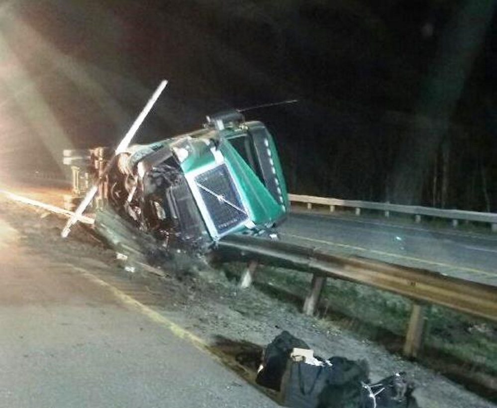 Duncan MacPhee, 44, of Cornwall, Prince Edward Island, fell asleep at the wheel while driving about 1 a.m. Monday on Interstate 95 in Farmingdale, police said.