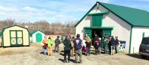 The day started with the entire group of 13 Unity College students, two faculty members, 33 middle school students and two teachers from Mt. View Middle School participating in ice breakers. Group I went to the Heritage Barn for a lesson on sustainability and farm animals.