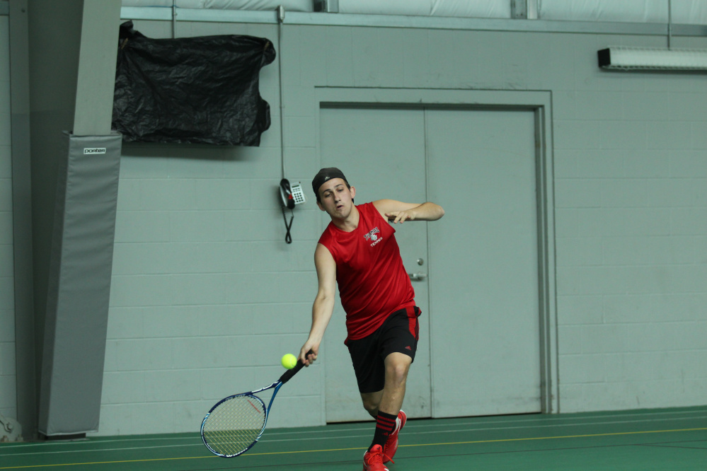 Zach Disch, a Waterville native, earned North Atlantic Conference honors playing at No. 2 singles for Thomas COllege this season.