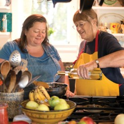 "Sara Jenkins, left, and Nancy Harmon Jenkins, mother-daughter co-authors of ""The Four Seasons of Pasta."""