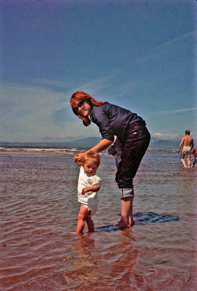 Nancy Harmon Jenkins and her daughter, Sara, as a toddler. Mother and daughter recently collaborated on