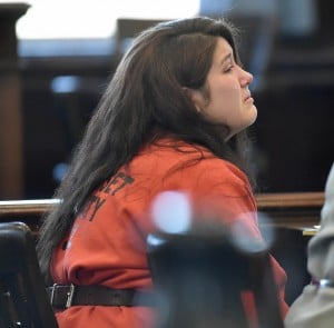 Kayla Stewart, in February seen in court, has been delivered to the custody of the state Department of Health and Human Services and will be evaluated at Riverview Psychiatric Center in Augusta. Stewart is charged with murdering her newborn son.