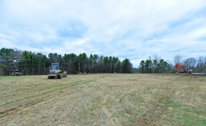Land has been cleared on Washington Street in Waterville for installation of 5,505 solar panels by Colby College as part of a 1.9-megawatt photovoltaic energy project.