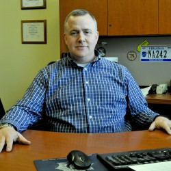 Waterville Deputy police Chief Charles Rumsey announced Thursday he is leaving the Waterville department to become police chief in Cumberland.