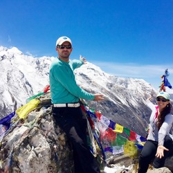 Khaled and Jasmine Habash summited Kyanjin Ri at 14,500 feet in Nepal one year after their mother, Dawn Habash, attempted the same climb but turned back because of the weather. Dawn Habash later died when an earthquake struck Nepal.