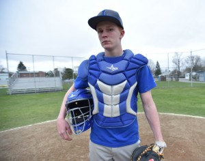 Devon Webb, who played shortstop his whole baseball career, made the move to catcher this season for Lawrence.