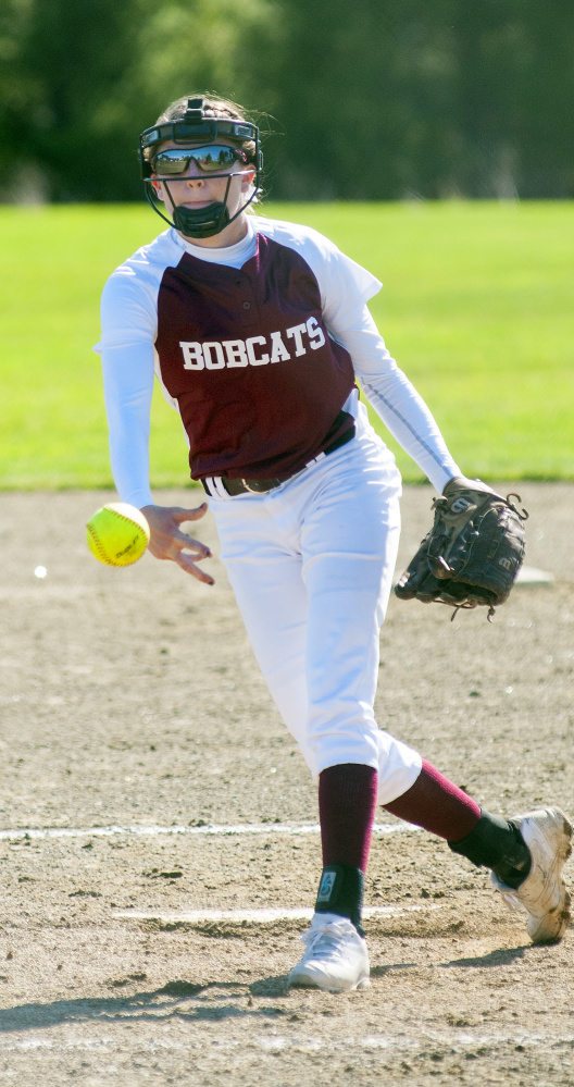 Richmond pitcher Meranda Martin delivers during a game against Sacopee on Friday in Richmond.