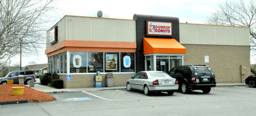 The current Dunkin' Donuts at 9 Bay St. in Winslow. It will be replaced by a new one that will be paired with a retail store a short distance away at 50 Bay St.