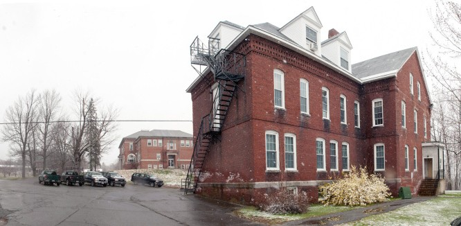 The Stevens School complex, shown in this April 26 photo, was recently purchased by a developer, which will put more responsibility in the hands of the Hallowell Planning Board.