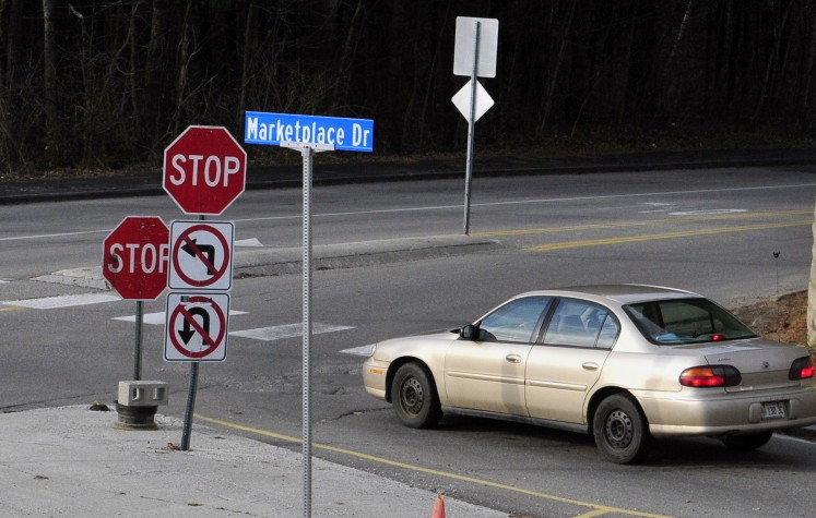 Drivers would be permanently allowed to make a left turn from Marketplace Drive onto Townsend Road under a proposal Augusta City Council will consider Thursday.