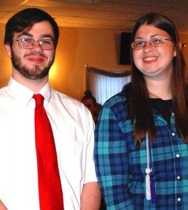 Christopher Audet and Megan Cousins from the Information Technology program. They also attend Lawrence High School.