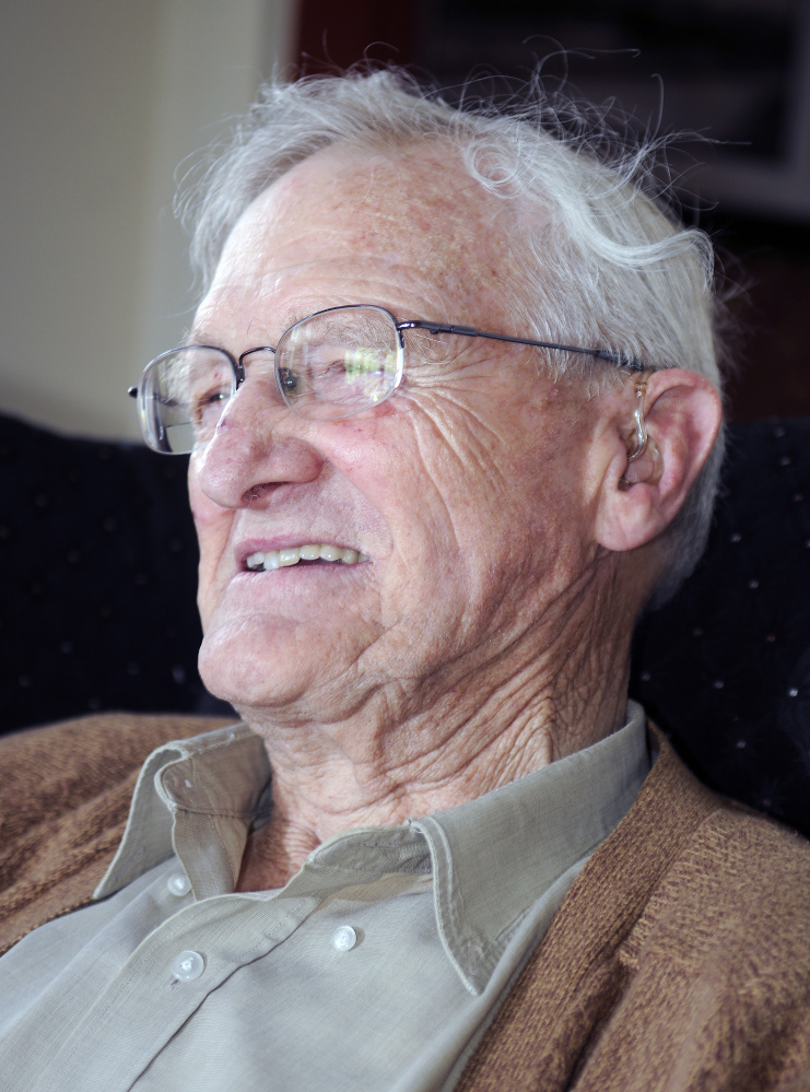Peter Ault, at his home in Wayne last week, is retiring after more than 50 years of service to Wayne.