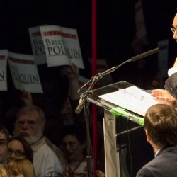 Bruce Poliquin, seen here when he served as a keynote speaker during the second day of the Maine Republican Party's state convention in Bangor last month, has come under fire for his voting record on a measure that would prohibit agencies to award taxpayer dollars to federal contractors that violate President Barack Obama's executive order barring discrimination against lesbian, gay, bisexual and transgender people.