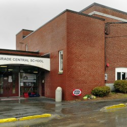 Belgrade Central School is one of six Regional School Unit 18 schools that will get health and safety renovations following a bond issue passed by voters Tuesday. Asbestos tiles will be removed from the school and new ones will be installed.