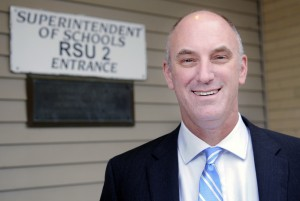 RSU 2 Superintendent Bill Zima, shown here at his Hallowell office in 2015, said the school district's budget increases are leveling off.