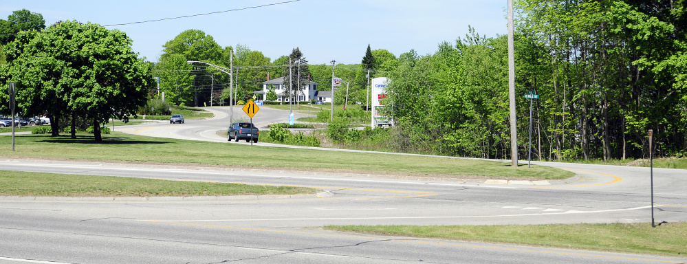 The Maine Department of Transportation is proposing changes to the intersection of U.S. Route 202 and Main Street in Winthrop, which is shown here in a Thursday photo.