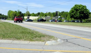 This Thursday photo shows the intersection of U.S. Route 202 and Main Street in Winthrop.