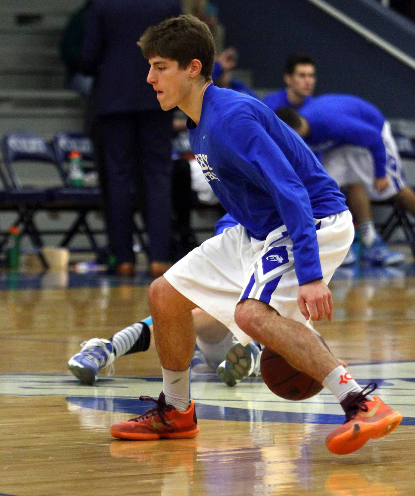Colby guard Pat Dickert made national headlines when he posted a video of himself dunking from behind a foul line.
