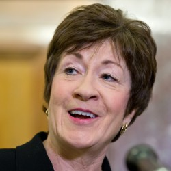 "Asked about a report floating her name as a possible Donald Trump running mate, Sen. Susan Collins said, ""I'm not waiting by my phone."""