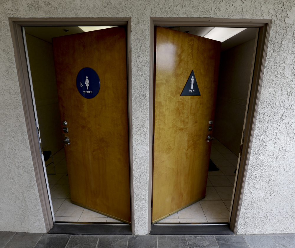 The California Assembly passed a bill Monday that would make single-person restrooms like these gender neutral in an effort to help transgender people.