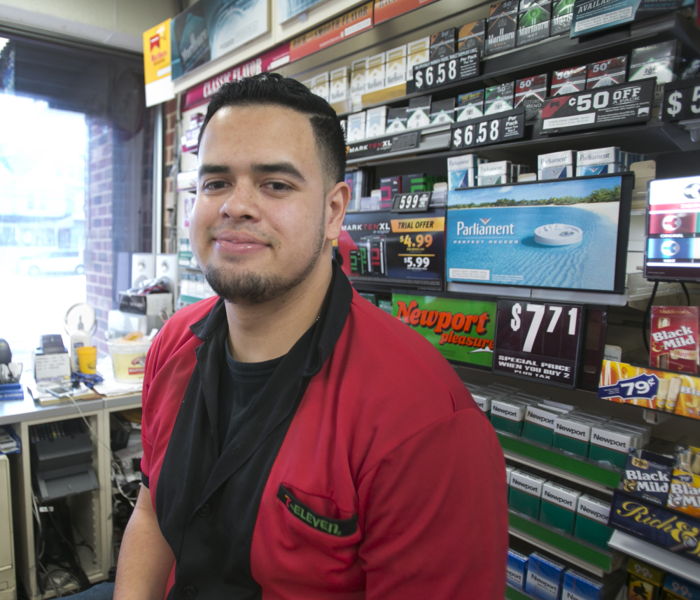 Luis Sandoval sold Saturday's winning Powerball ticket from a 7-Eleven store in Trenton, N.J.