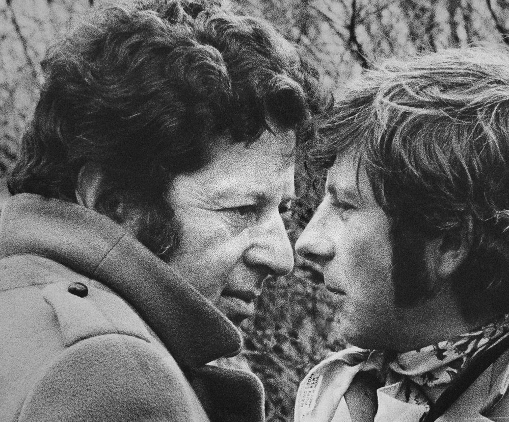 """Producer Gene Gutowski, left, and director Roman Polanski collaborated on films in the 1960s. In 2002, they reunited to make the Oscar-winning Holocaust film """"The Pianist."""""""