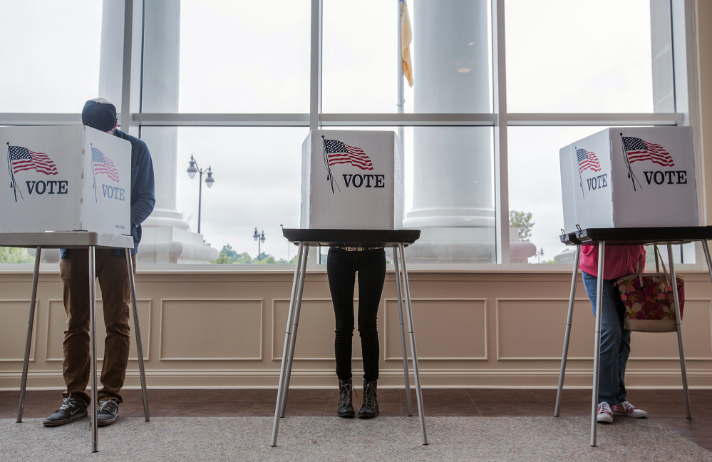 Residents vote Tuesday in Paducah, Ky., as the state holds its Democratic presidential primary between Hillary Clinton and Bernie Sanders. Kentucky's Republicans met in March for their presidential caucus, which was won by Donald Trump.