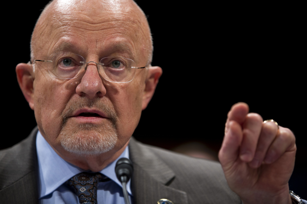 """Director of National Intelligence James Clapper said, """"We've already had some indications"""" of hacking Wednesday at a cybersecurity event in Washington."""