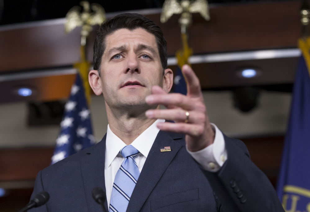 House Speaker Paul Ryan of Wisconsin blamed Democrats for the defeat of a routine spending bill Thursday, even though a majority of Republicans voted against the bill.