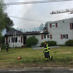 Firefighters responded to a Friday morning blaze on Plummer Road in Gorham.