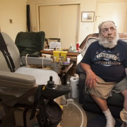 Harvey Lembo of Rockland is appealing a judge's ruling in May that the owners of the apartment complex where he lived did not violate his civil rights when he was told to give up the gun or face eviction.